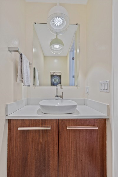 Real Estate Photography - 2144 W Rice St, #3W, Chicago, IL, 60622 - Powder Room