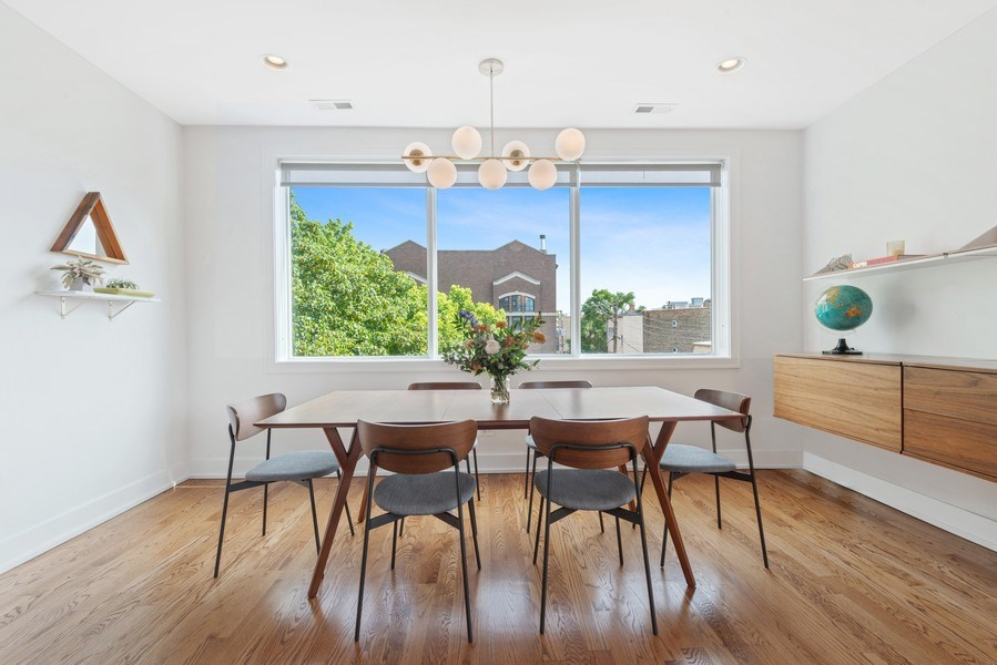Real Estate Photography - 2144 W Rice St, #3W, Chicago, IL, 60622 - Dining Room