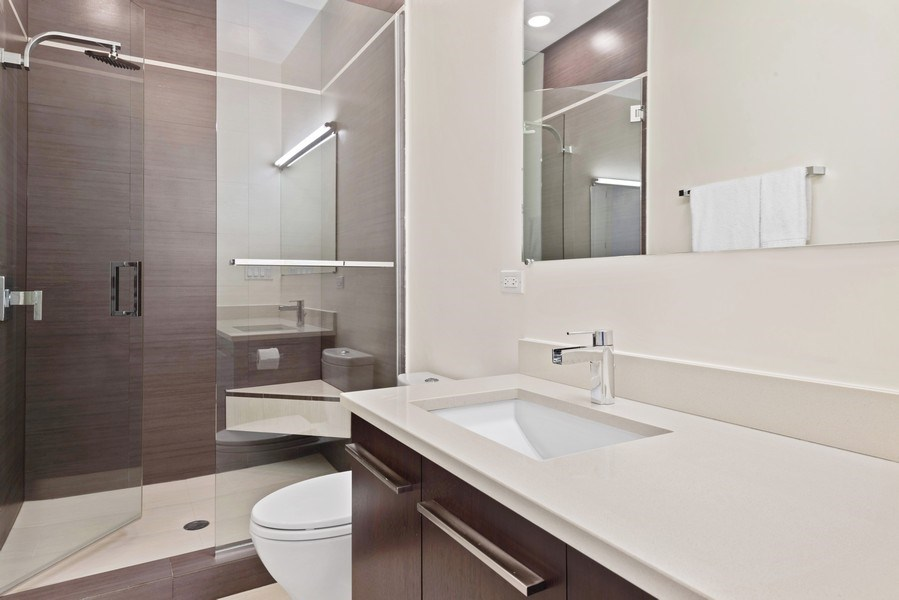 Real Estate Photography - 2144 W Rice St, #3W, Chicago, IL, 60622 - 2nd Bathroom