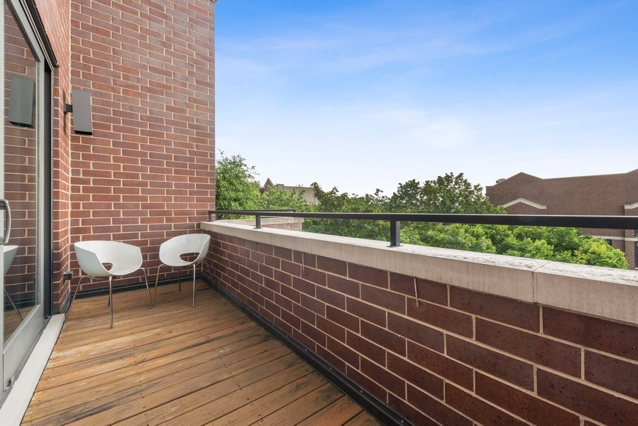 Real Estate Photography - 2144 W Rice St, #3W, Chicago, IL, 60622 - Balcony