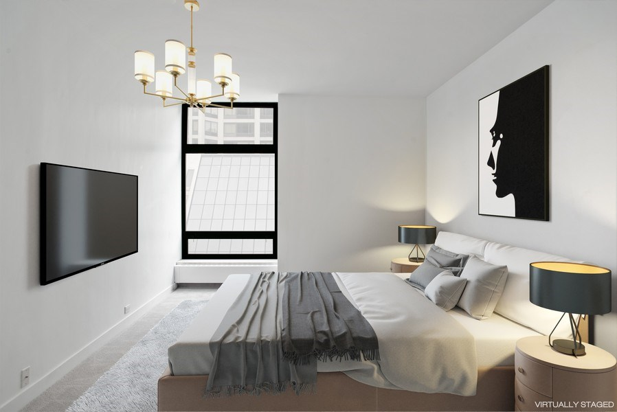 Real Estate Photography - 680 N. Lakeshore Drive #912, Chicago, IL, 60611 - Master Bedroom