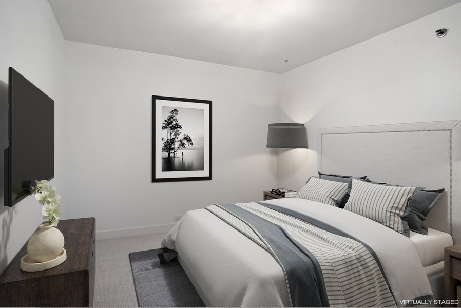 Real Estate Photography - 680 N. Lakeshore Drive #912, Chicago, IL, 60611 - 3rd Bedroom