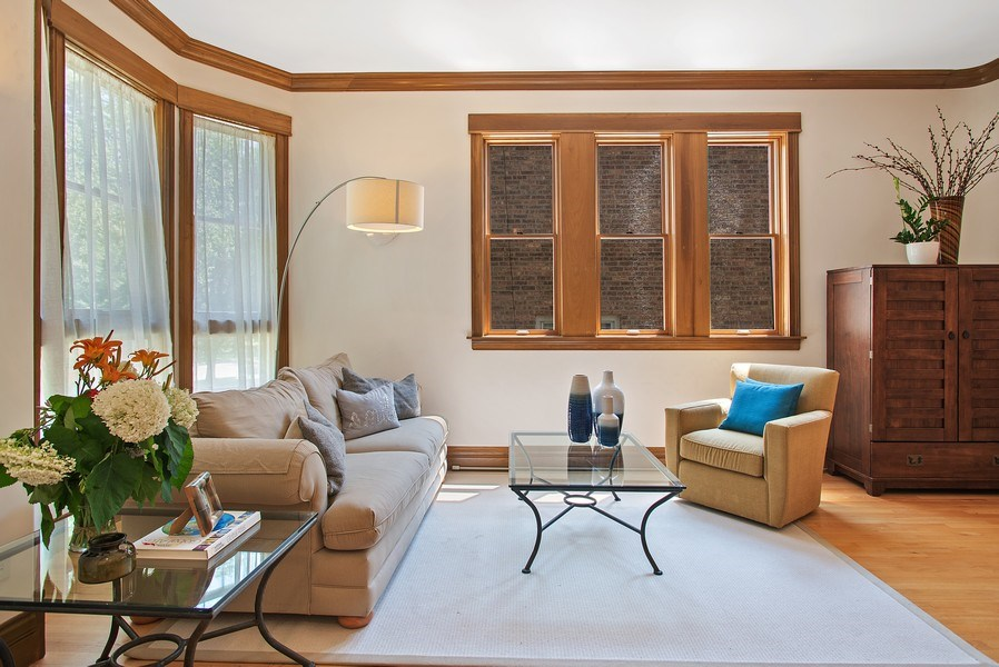 Real Estate Photography - 2314 Brown, Evanston, IL, 60201 - Living Room
