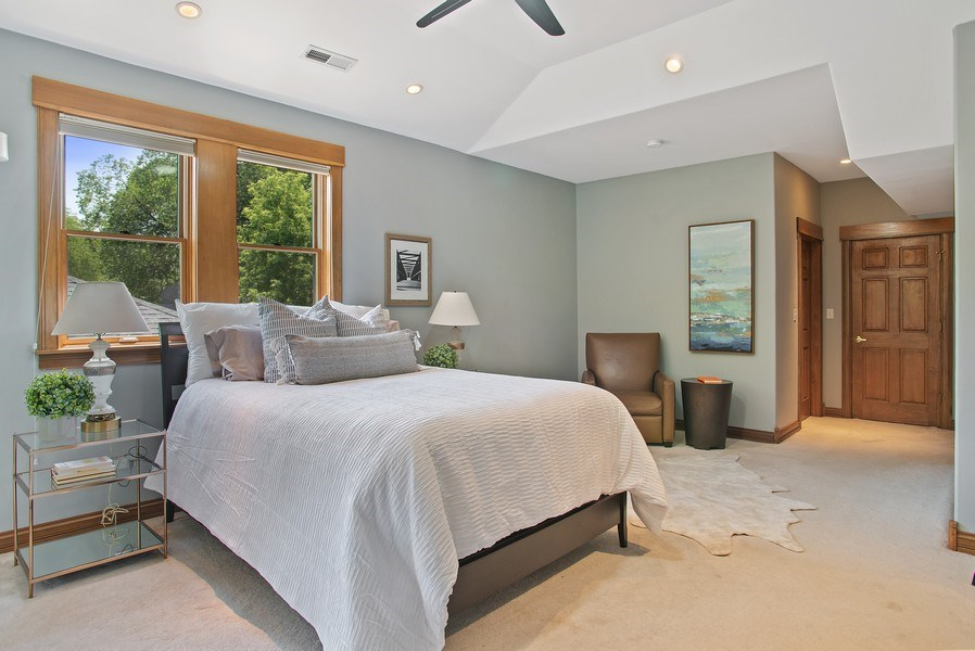 Real Estate Photography - 2314 Brown, Evanston, IL, 60201 - Master Bedroom