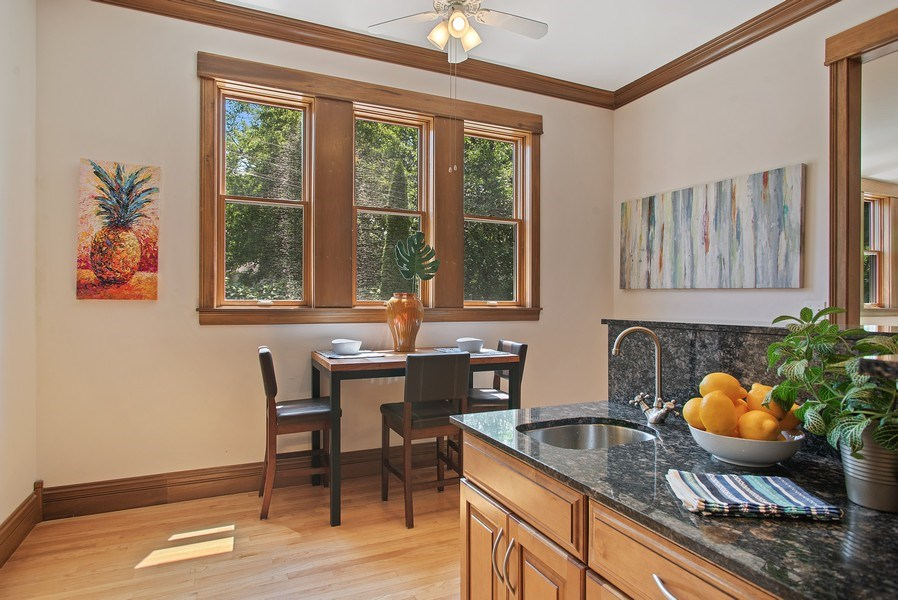 Real Estate Photography - 2314 Brown, Evanston, IL, 60201 - Kitchen / Breakfast Room