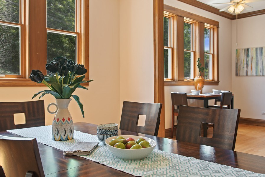 Real Estate Photography - 2314 Brown, Evanston, IL, 60201 - Dining Room
