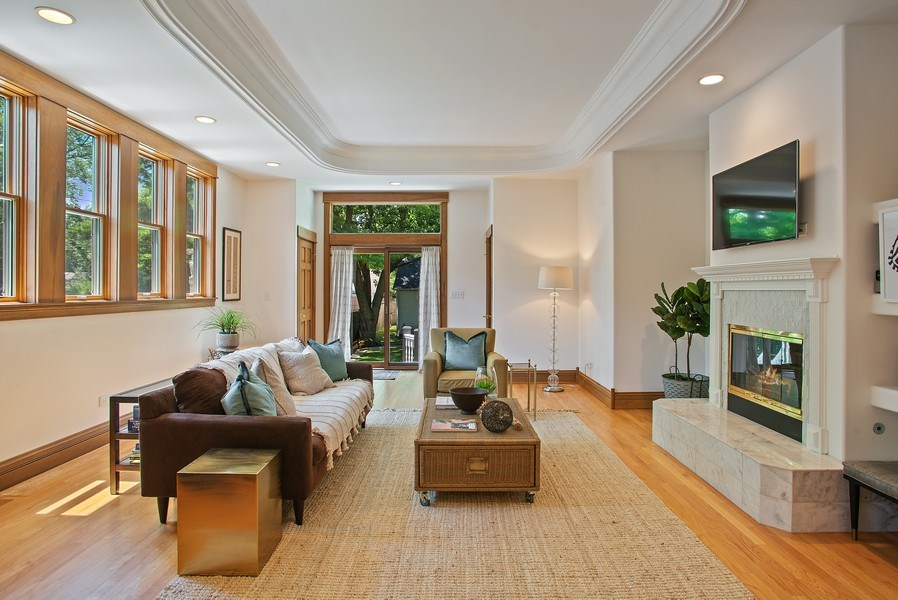 Real Estate Photography - 2314 Brown, Evanston, IL, 60201 - Family Room