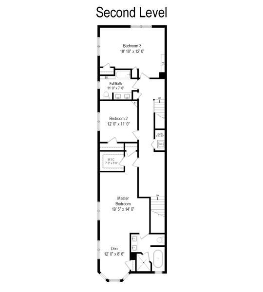Real Estate Photography - 2314 Brown, Evanston, IL, 60201 - Floor Plan