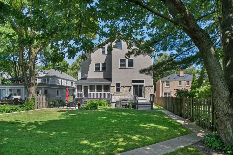 Real Estate Photography - 2314 Brown, Evanston, IL, 60201 - Rear View