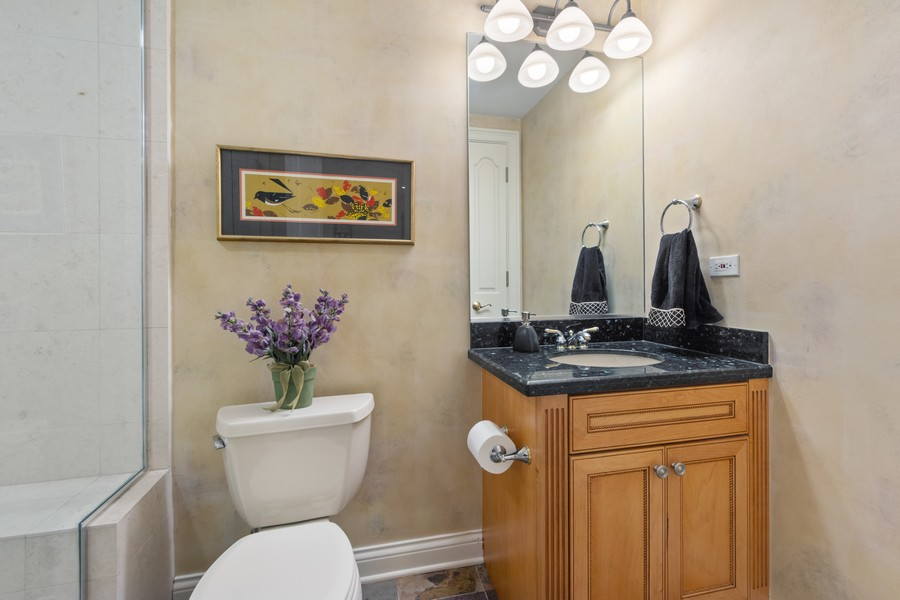 Real Estate Photography - 14 Riderwood, North Barrington, IL, 60010 - Lower Level Full Bath