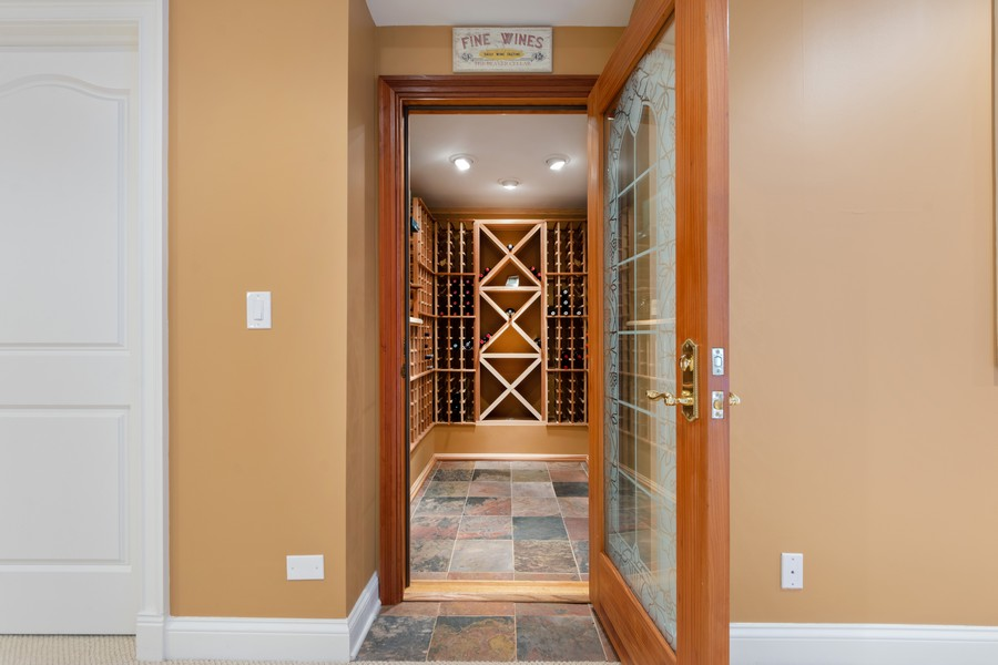 Real Estate Photography - 14 Riderwood, North Barrington, IL, 60010 - Wine Cellar