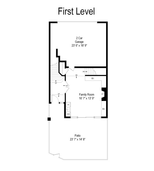 Real Estate Photography - 727 S Racine Ave, #E, Chicago, IL, 60607 - Floor Plan