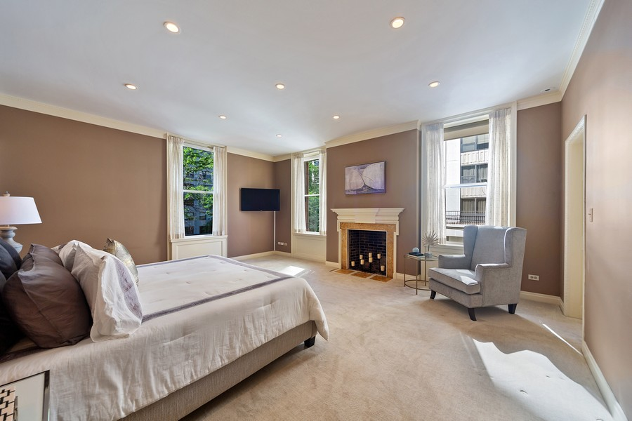 Real Estate Photography - 1500 North Astor, Unit 7, Chicago, IL, 60610 - Master Bedroom