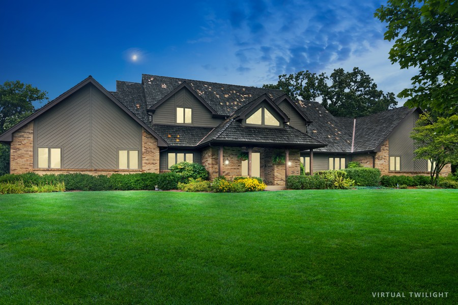 Real Estate Photography - 21710 N Hickory Ln, Barrington Hills, IL, 60010 - Front View
