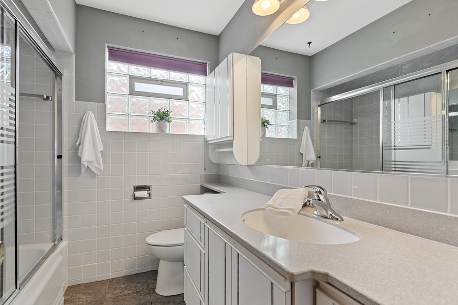 Real Estate Photography - 2451 Sunnyside, Westchester, IL, 60154 - Bathroom