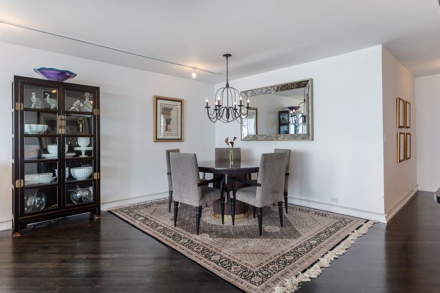 Real Estate Photography - 1212 N Lakeshore Dr, 25AS, Chicago, IL, 60610 - Dining Area