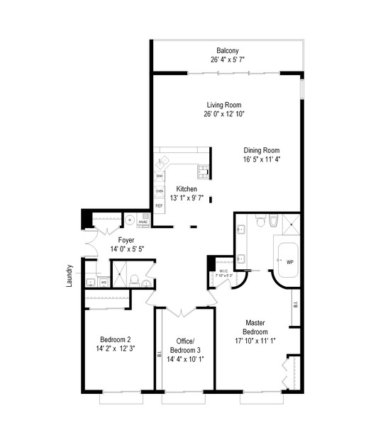 Real Estate Photography - 1212 N Lakeshore Dr, 25AS, Chicago, IL, 60610 - Floor Plan