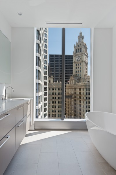 Real Estate Photography - 403 N Wabash, Ph B, Chicago, IL, 60611 - Master Bathroom
