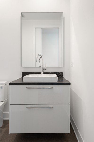Real Estate Photography - 403 N Wabash, Ph B, Chicago, IL, 60611 - Powder Room
