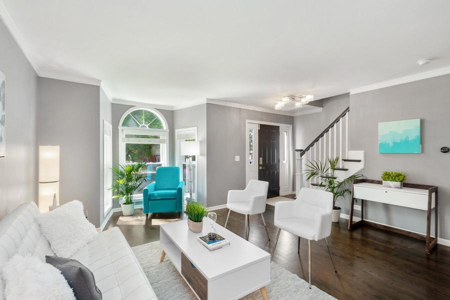 Real Estate Photography - 2527 N Washtenaw, Chicago, IL, 60647 - Living Room