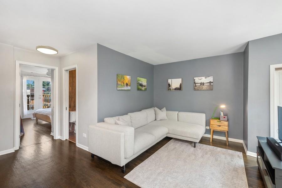 Real Estate Photography - 2527 N Washtenaw, Chicago, IL, 60647 - Den