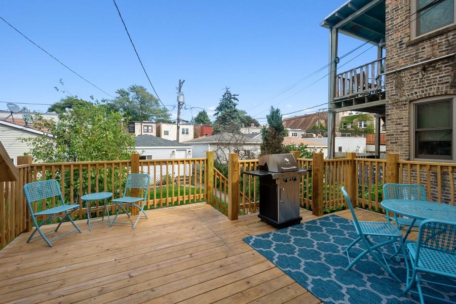 Real Estate Photography - 2527 N Washtenaw, Chicago, IL, 60647 - Deck