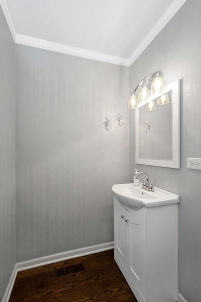 Real Estate Photography - 2527 N Washtenaw, Chicago, IL, 60647 - Half Bath