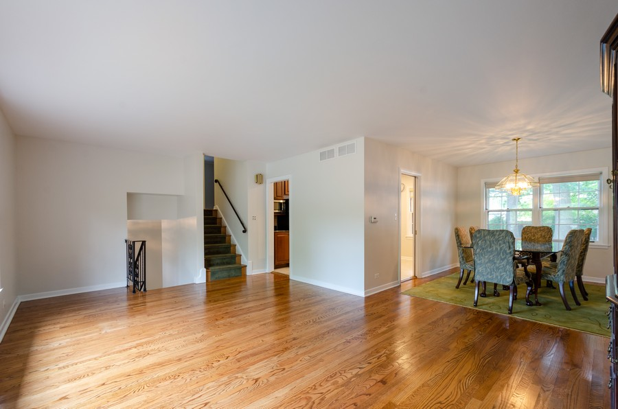 Real Estate Photography - 9632 Kildare, Skokie, IL, 60076 - Living Room / Dining Room