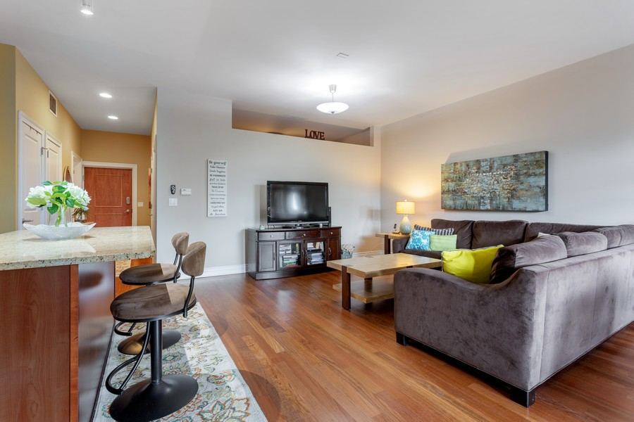 Real Estate Photography - 3300 W Irving Park, #G3, Chicago, IL, 60618 - Living Room