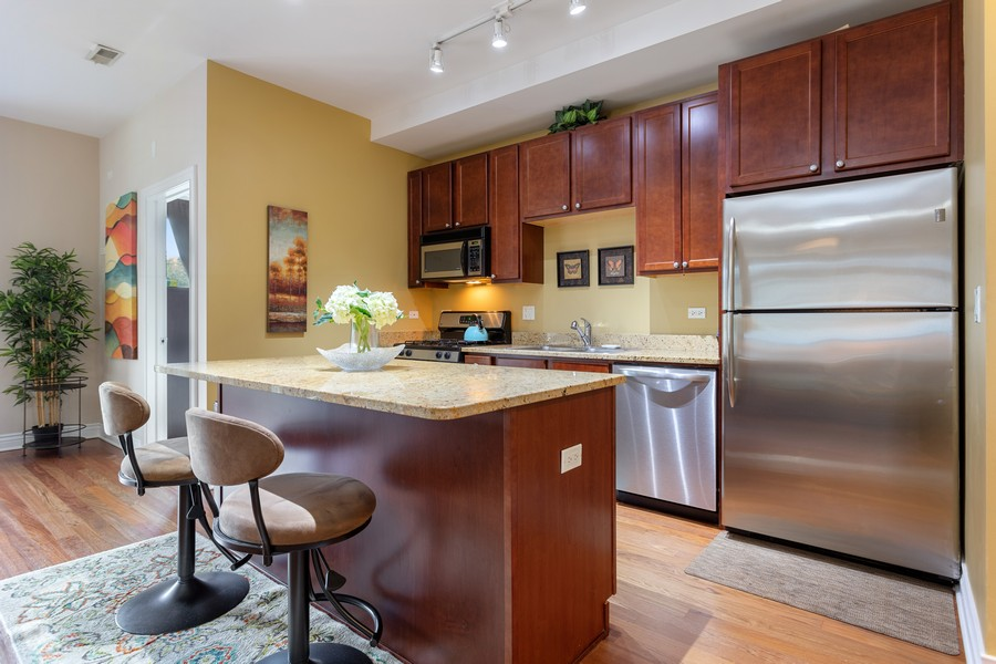 Real Estate Photography - 3300 W Irving Park, #G3, Chicago, IL, 60618 - Kitchen