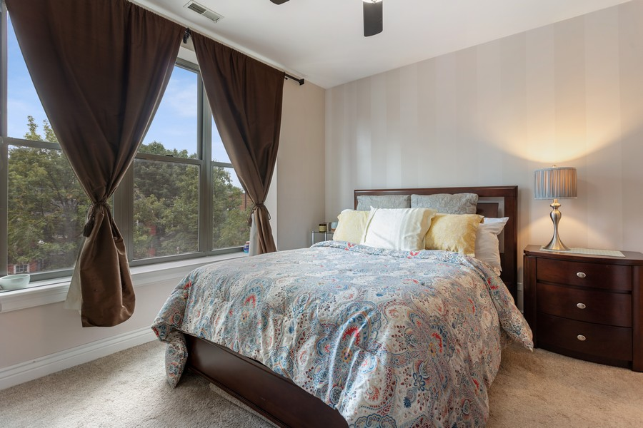 Real Estate Photography - 3300 W Irving Park, #G3, Chicago, IL, 60618 - Master Bedroom