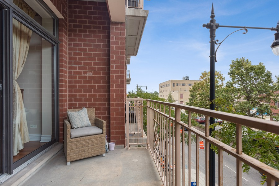 Real Estate Photography - 3300 W Irving Park, #G3, Chicago, IL, 60618 - Balcony