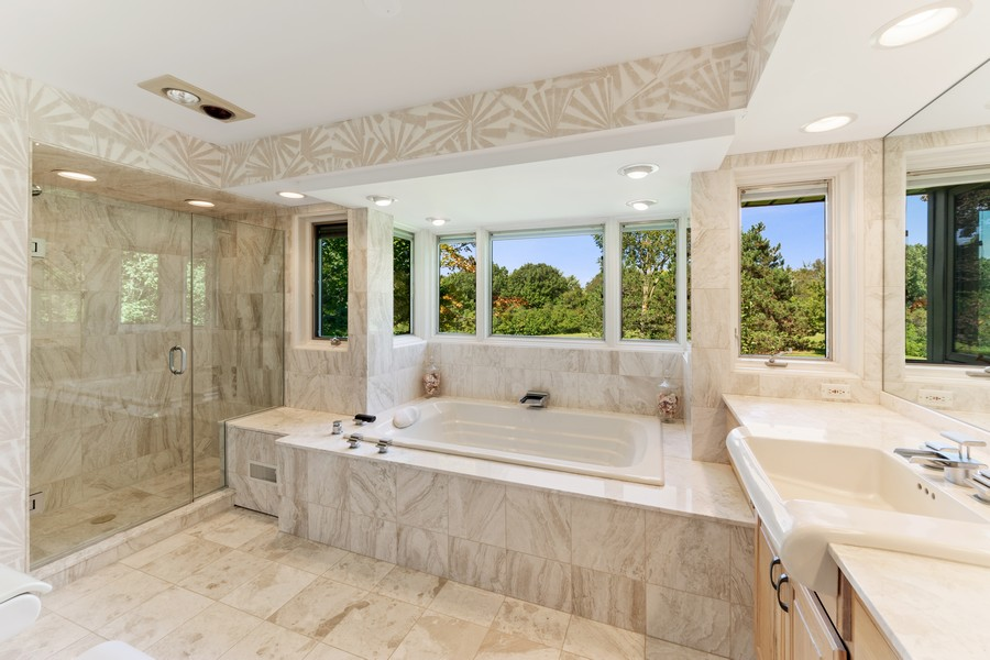 Real Estate Photography - 126 Brinker, Barrington Hills, IL, 60010 - Master Bathroom