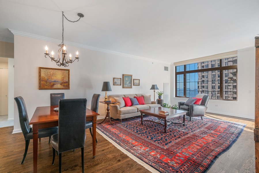 Real Estate Photography - 530 N Lake Shore Dr, 1707, Chicago, IL, 60611 - Living Room