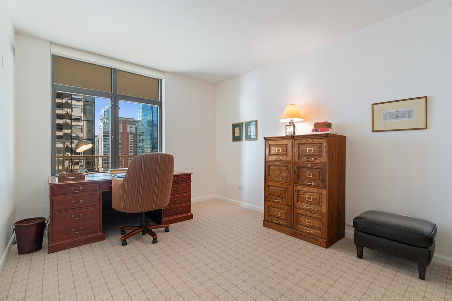Real Estate Photography - 530 N Lake Shore Dr, 1707, Chicago, IL, 60611 - 2nd Bedroom