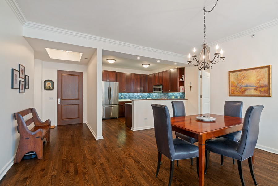 Real Estate Photography - 530 N Lake Shore Dr, 1707, Chicago, IL, 60611 - Dining Room