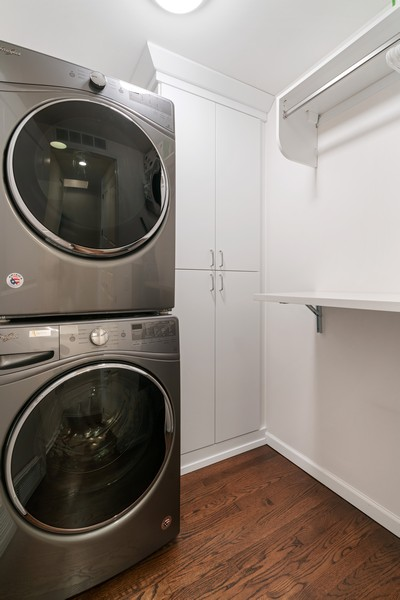 Real Estate Photography - 530 N Lake Shore Dr, 1707, Chicago, IL, 60611 - Laundry Room