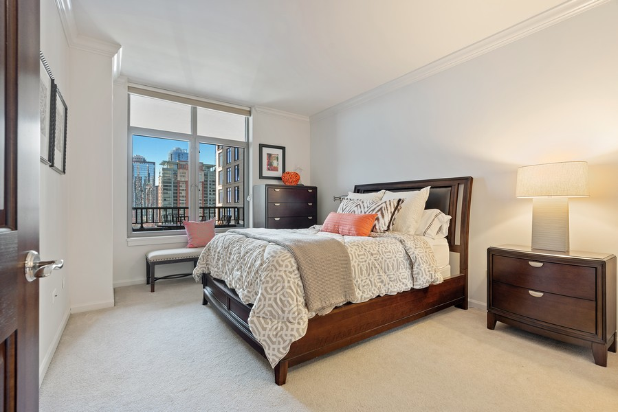 Real Estate Photography - 530 N Lake Shore Dr, 1708, Chicago, IL, 60611 - 2nd Bedroom