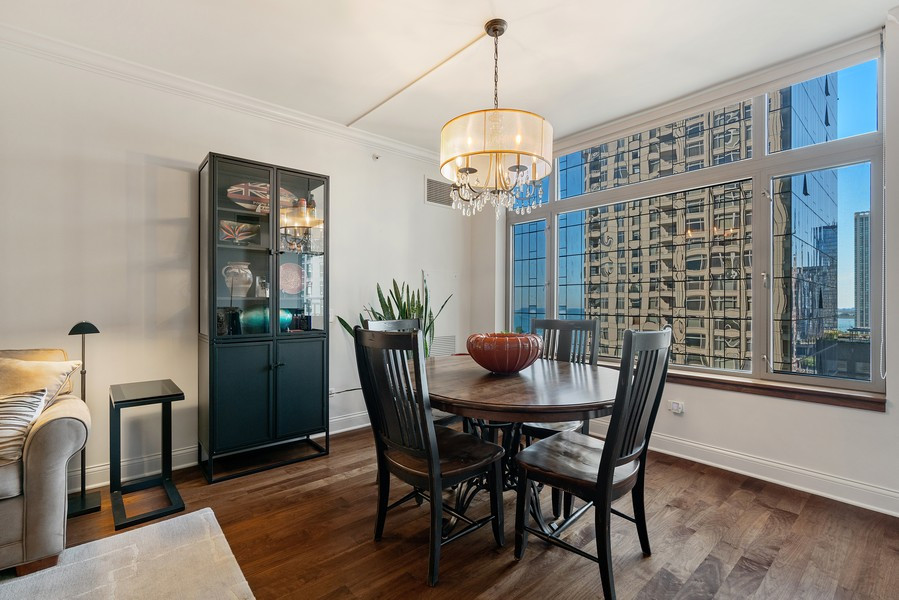 Real Estate Photography - 530 N Lake Shore Dr, 1708, Chicago, IL, 60611 - Dining Room