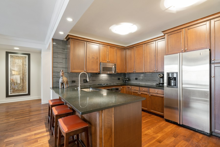 Real Estate Photography - 530 N Lake Shore Dr, 1708, Chicago, IL, 60611 - Kitchen