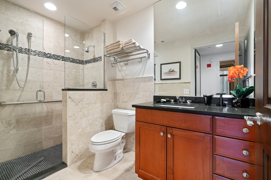 Real Estate Photography - 530 N Lake Shore Dr, 1708, Chicago, IL, 60611 - Bathroom