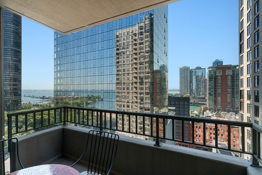 Real Estate Photography - 530 N Lake Shore Dr, 1708, Chicago, IL, 60611 - Balcony
