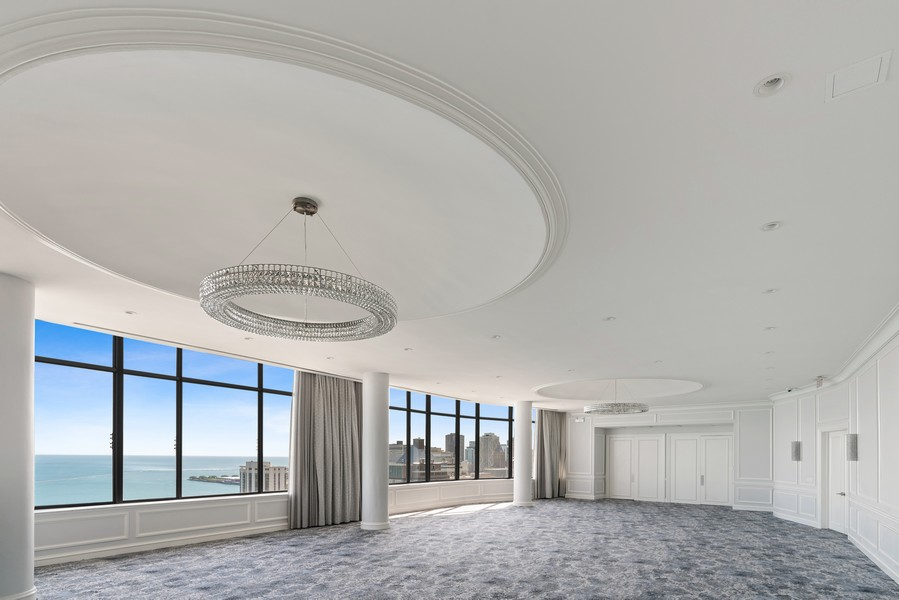 Real Estate Photography - 1040 N Lake Shore Dr, 36BC, Chicago, IL, 60614 - Ballroom