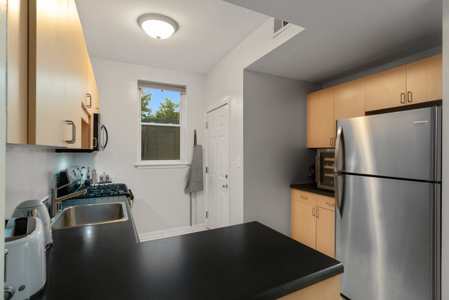 Real Estate Photography - 2227 N Kimball, #2E, Chicago, IL, 60647 - Kitchen
