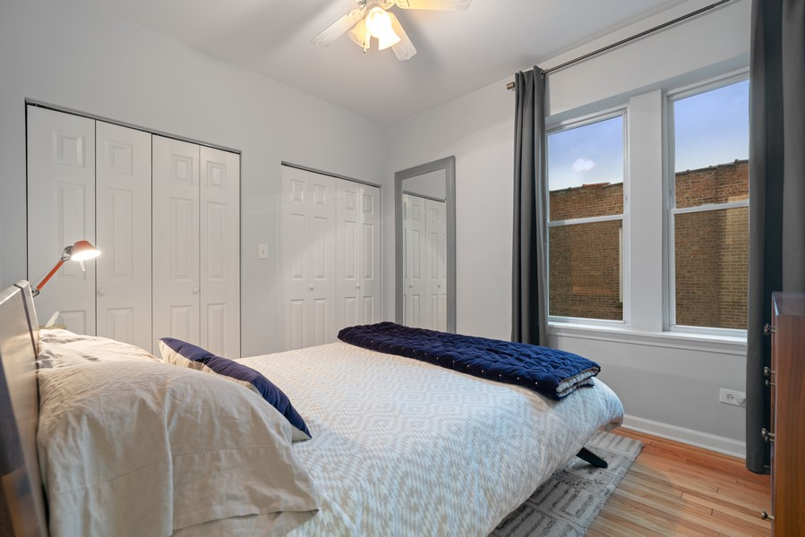 Real Estate Photography - 2227 N Kimball, #2E, Chicago, IL, 60647 - Bedroom