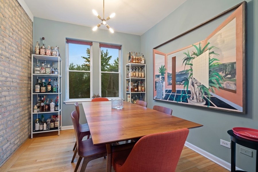 Real Estate Photography - 2227 N Kimball, #2E, Chicago, IL, 60647 - Dining Room