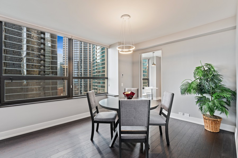 Real Estate Photography - 400 E Ohio St, 1604, Chicago, IL, 60611 - Dining Room