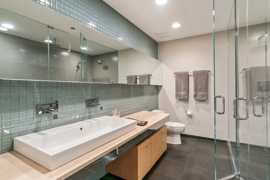 Real Estate Photography - 530 N Lake Shore Dr, unit 2305, Chicago, IL, 60611 - Master Bathroom