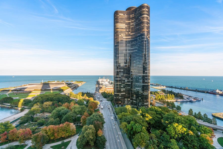 Real Estate Photography - 530 N Lake Shore Dr, unit 2305, Chicago, IL, 60611 - View