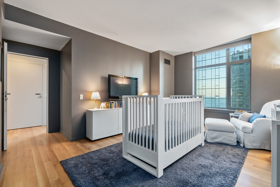Real Estate Photography - 530 N Lake Shore Dr, unit 2305, Chicago, IL, 60611 - 3rd Bedroom